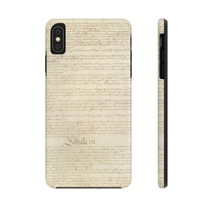 CONSTITUTION ARTICLE ii/III: Case Mate Tough Phone Cases