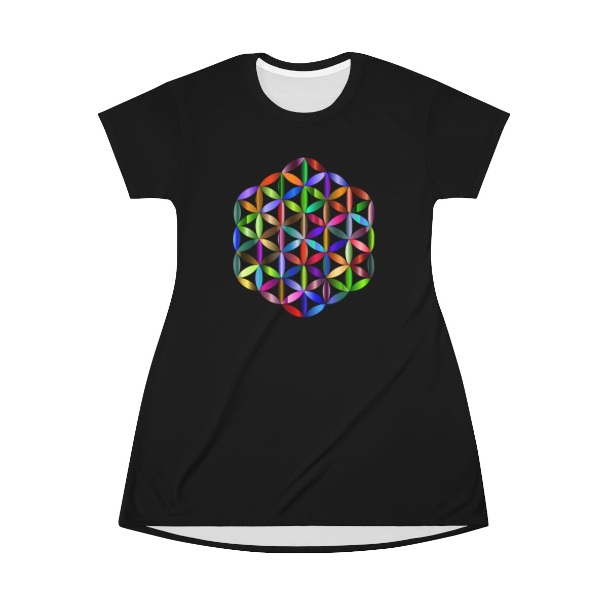 *FLOWER OF LIFE* (MULTI-COLOR) T-Shirt Dress