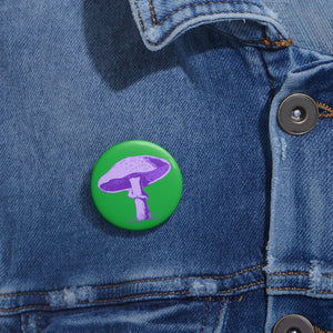 PURPLE MAGIC MUSHROOM- Pin Buttons