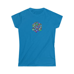 -FLOWER OF LIFE- WOMEN'S SOFT TEE