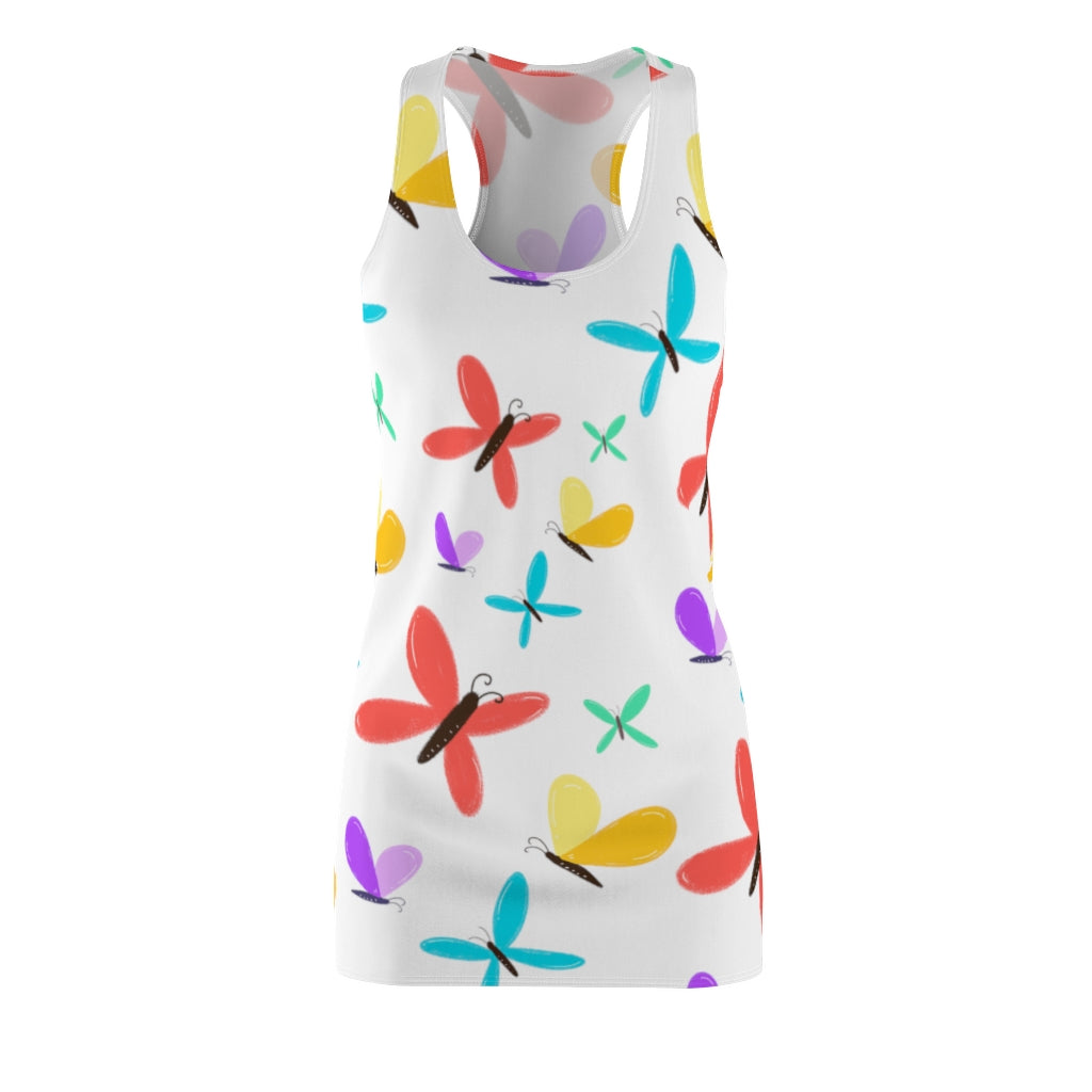 SUMMER BUTTERFLIES- Women's Cut & Sew Racerback Dress