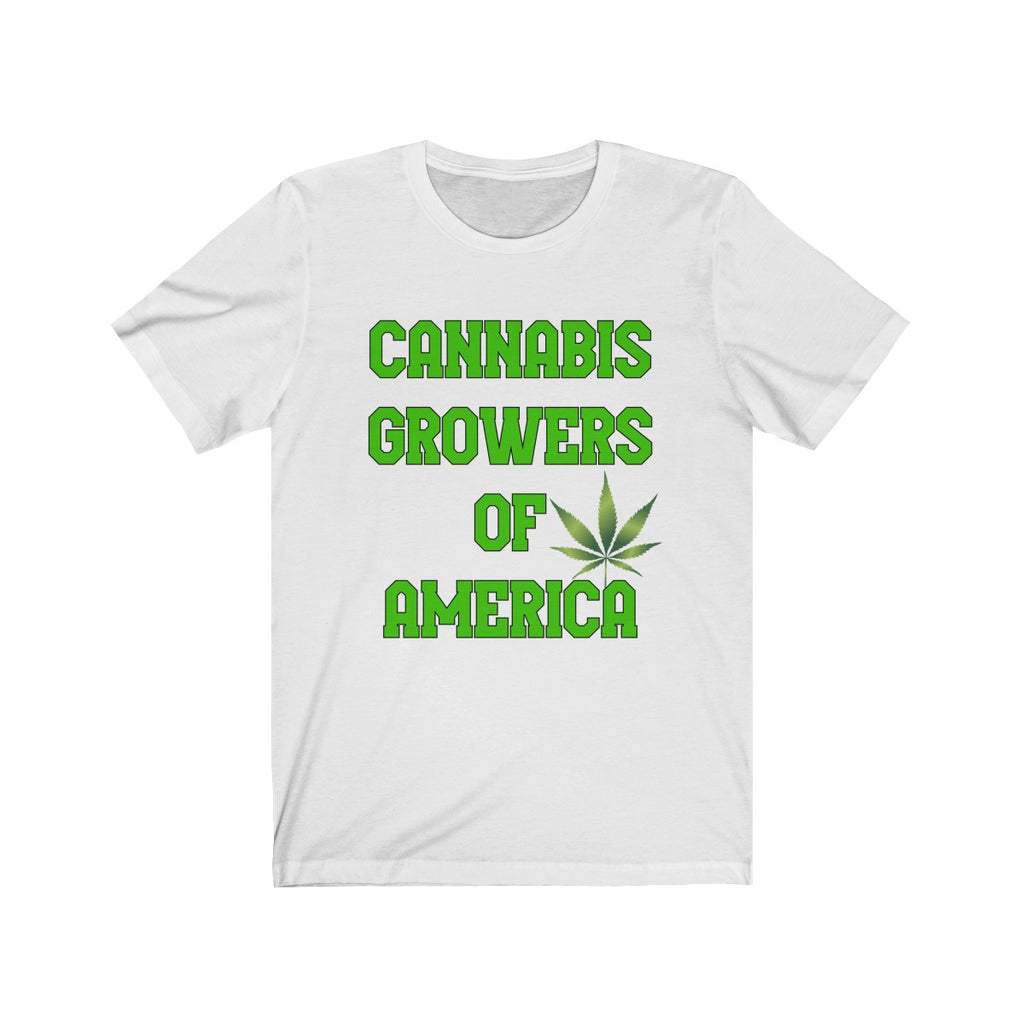 CANNABIS GROWERS OF AMERICA-Jersey Short Sleeve Tee
