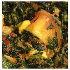 Efo Riro (vegetable) Soup