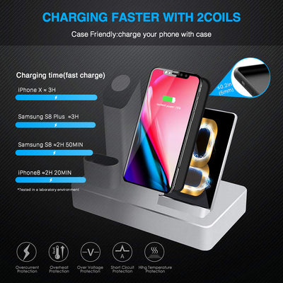 2 Coils faster wireless charging station