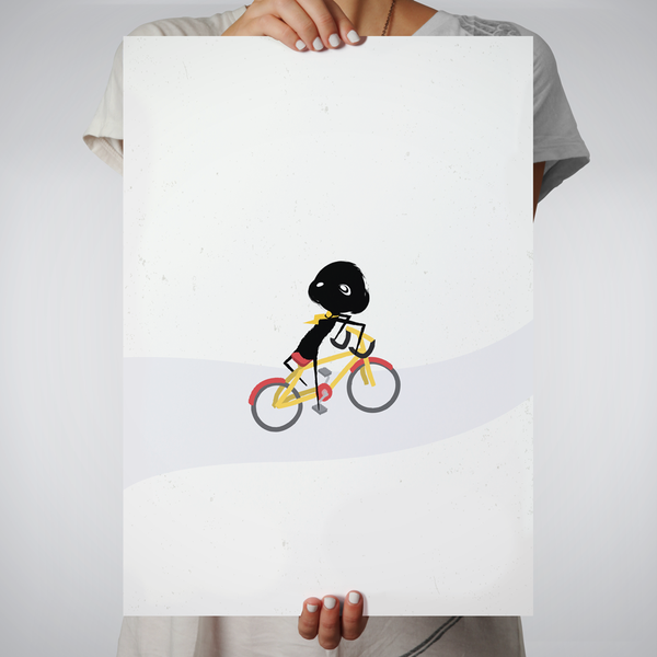 Poster - clclcloud: bicycle backwards