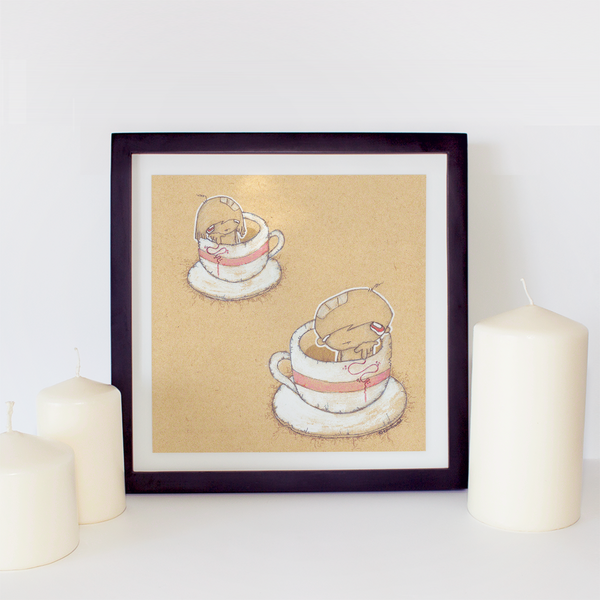 Art Print - tou tou touchwood : coffee & tea