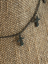 Gunmetal cross necklace-Gypsy_Gems_Jewels-womens-custom-boutique-jewelry-shop
