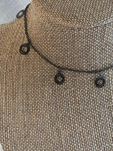 Gunmetal circle necklace