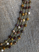 The Sandra necklace - semiprecious beading wrapped in gold