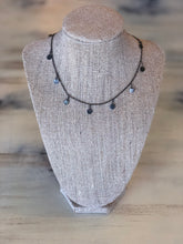 Gunmetal coins necklace