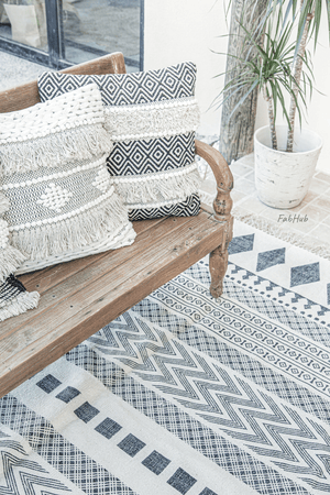 Geometric Boho Rug - Bloom - Home Decor | Shop Baskets, Ceramics, Pillows, Rugs & Wall Hangs online
