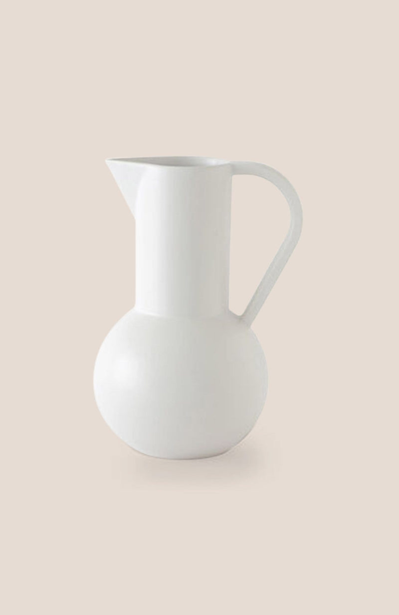 "Raawii Strøm Jug - Vaporous White 8h x 5""diam - Home Decor 