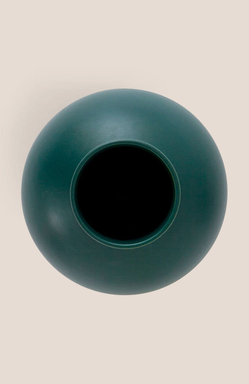 "Raawii Strøm Vase - Green Gables 9.5h x 7""diam - Home Decor 