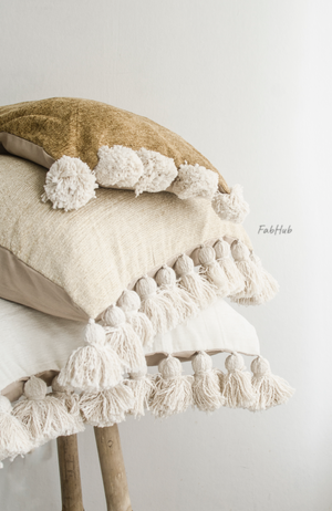 Pompon Pillow Cover Adora - Home Decor | Shop Baskets, Ceramics, Pillows, Rugs & Wall Hangs online