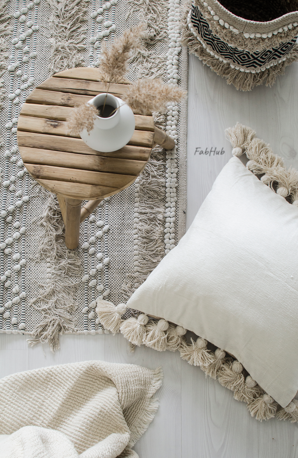 Pompon Pillow Cover Faye - Home Decor | Shop Baskets, Ceramics, Pillows, Rugs & Wall Hangs online