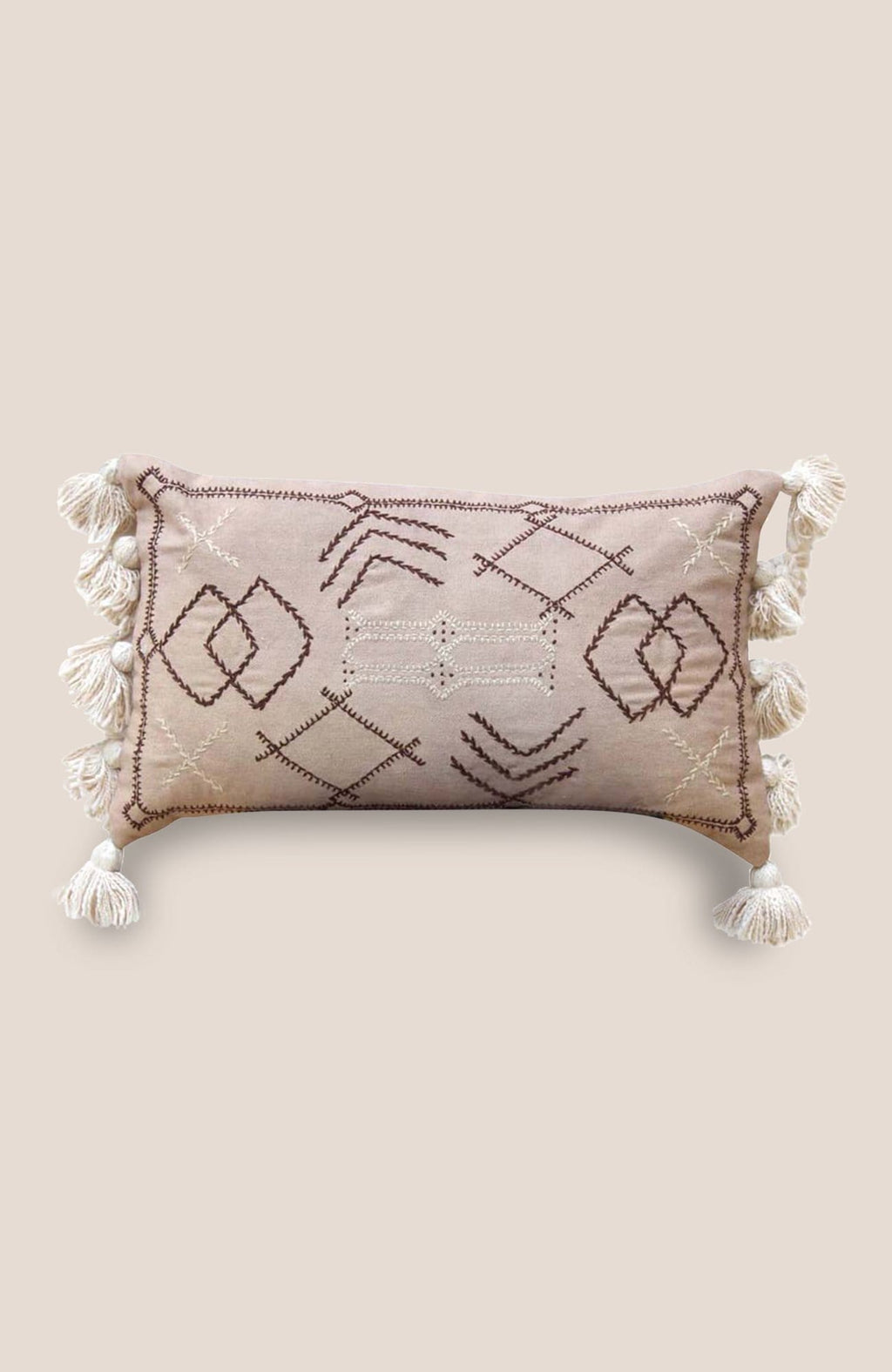 Sabra Pompom Pillow Cover Vega - Home Decor | Shop Baskets, Ceramics, Pillows, Rugs & Wall Hangs online
