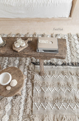 Scandi Tassel Boho Rug - Ember - Home Decor | Shop Baskets, Ceramics, Pillows, Rugs & Wall Hangs online
