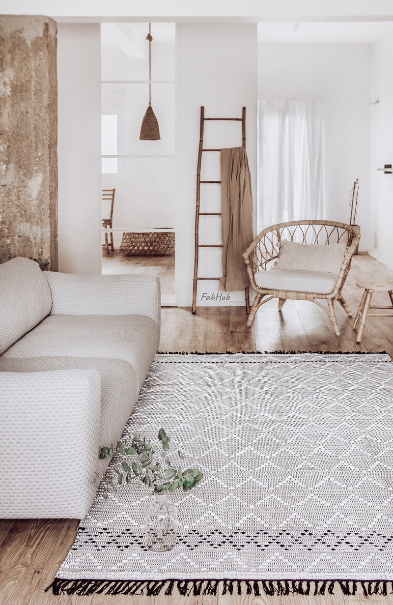 Geometric Boho Rug - Fern - Home Decor | Shop Baskets, Ceramics, Pillows, Rugs & Wall Hangs online