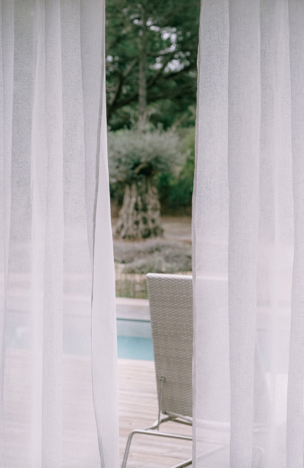 Off White Sheer Linen Curtains - Home Decor | Shop Baskets, Ceramics, Pillows, Rugs & Wall Hangs online