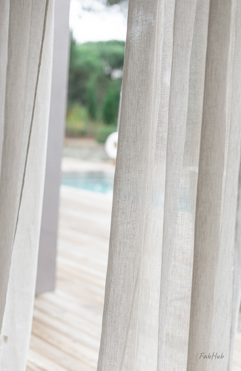 Natural Sheer Linen Curtains - Home Decor | Shop Baskets, Ceramics, Pillows, Rugs & Wall Hangs online