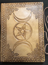 "Load image into Gallery viewer, Triple Goddess/Pentacle Blank Book 5""x7"""