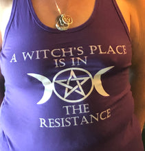 Load image into Gallery viewer, Purple Witches Resistance Tank Top