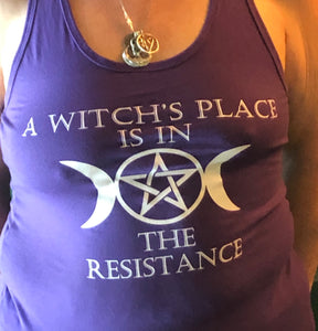 Purple Witches Resistance Tank Top