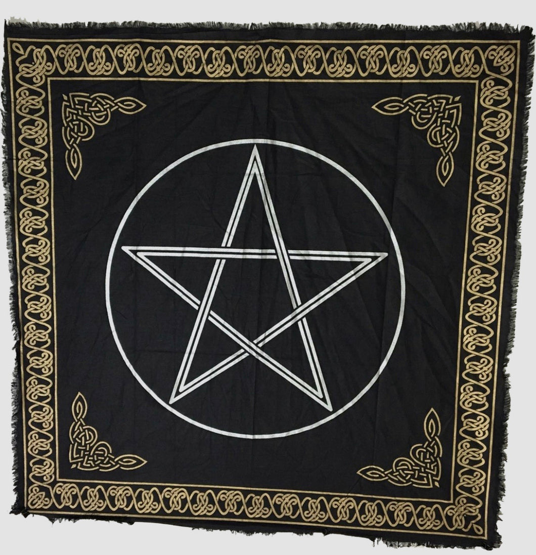 "36"" square Pentacle Altar Cloth"