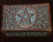 "Load image into Gallery viewer, Colored Pentacle Box 5""x8"""