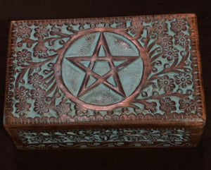 "Colored Pentacle Box 5""x8"""