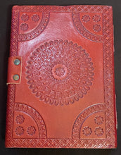 Load image into Gallery viewer, Leather Bound Blue Stone Journal