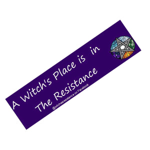 A Witch's Place Bumper Sticker