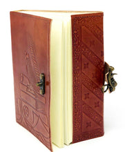 "Load image into Gallery viewer, 5""x7"" Leather bound Crow Journal"