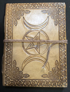 "Triple Goddess/Pentacle Blank Book 5""x7"""