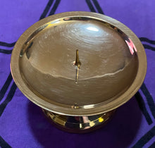 "Load image into Gallery viewer, 3"" Brass Candleholder"