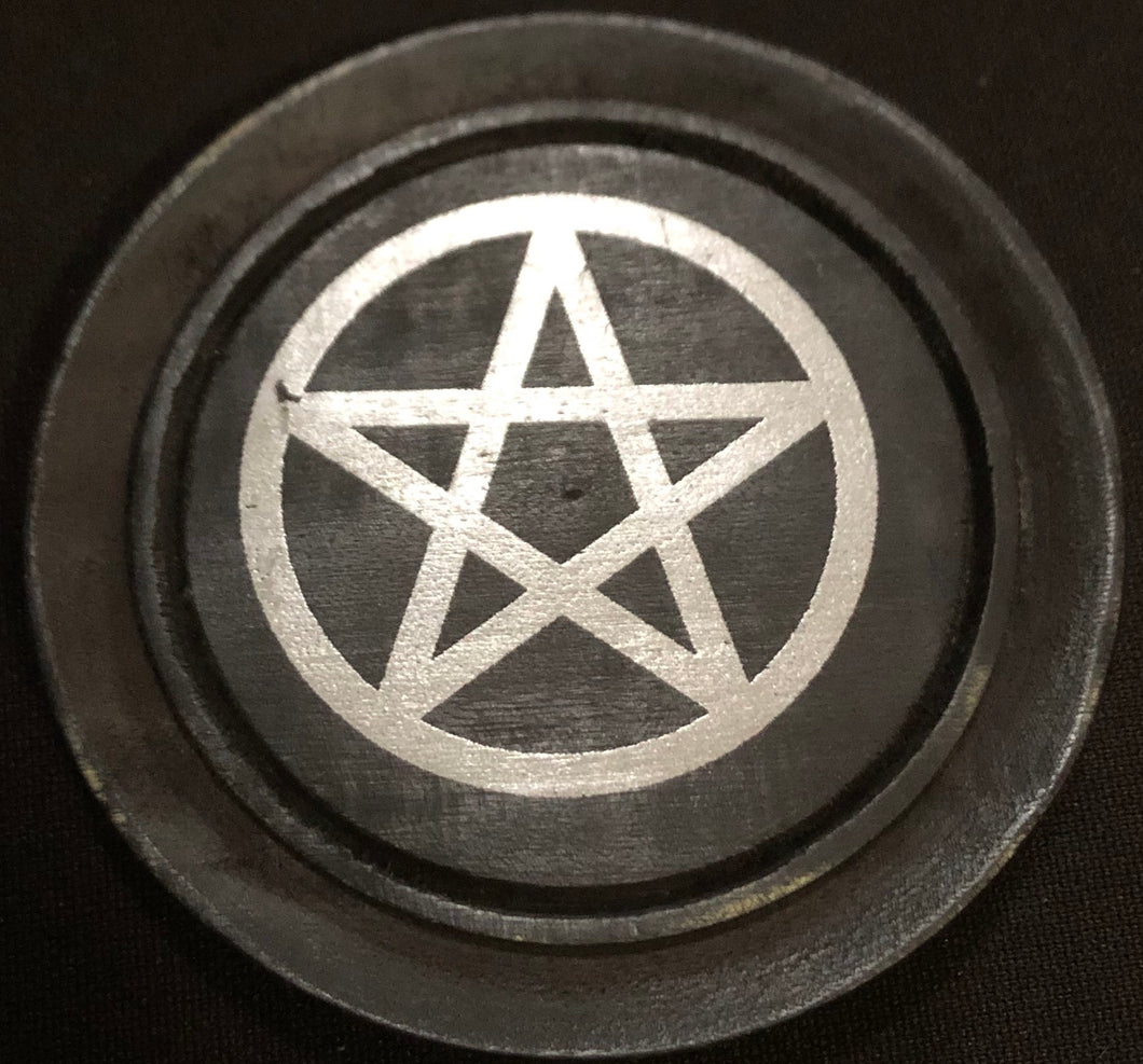 "3"" Wood Pentacle Altar Tile"