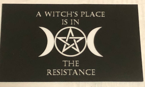 A Witch's Place Vinyl Sticker