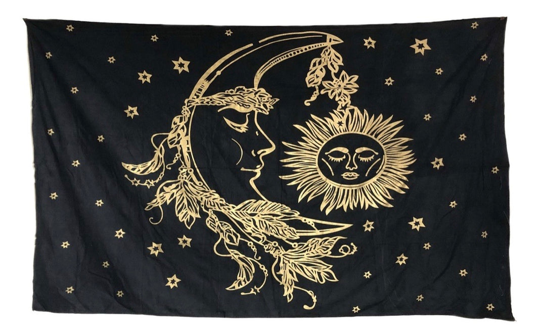 Moon and Sun Tapestry/Curtain