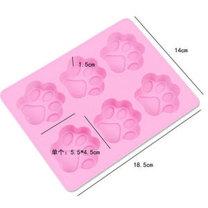 6 Units Cat Paw Silicone Cake Mold Bakeware 1PC DIY Handmade Soap Mold