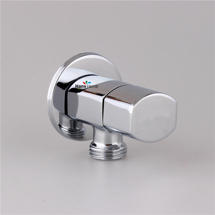 "Solid Brass 1/2""male x 1/2"" male Bathroom Angle Stop Valve"