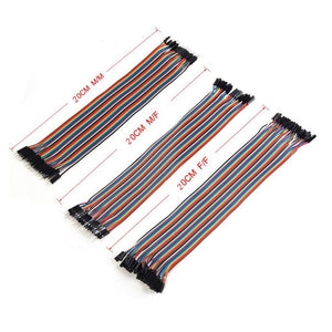 3 x 40pcs 20cm 2.54mm Male to Female Dupont Wire Jumper --M25