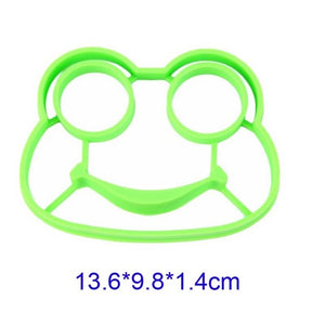 Kitchen Silicone Lovely Style Cats Frog Smiling Face Shape Egg Mold Breakfast Fried Eggs Mould Cute Interesting Mould Egg Tools