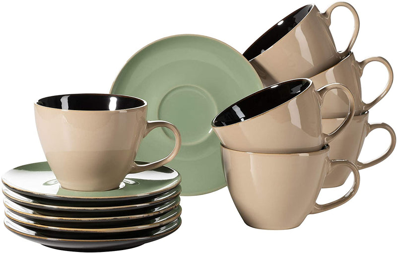 Ceramic Cappuccino Cups Set