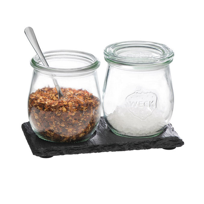 Rectangular Tray with Weck jars