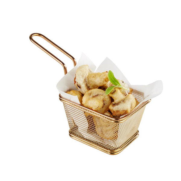 Fry Basket- Gold- Rectangular