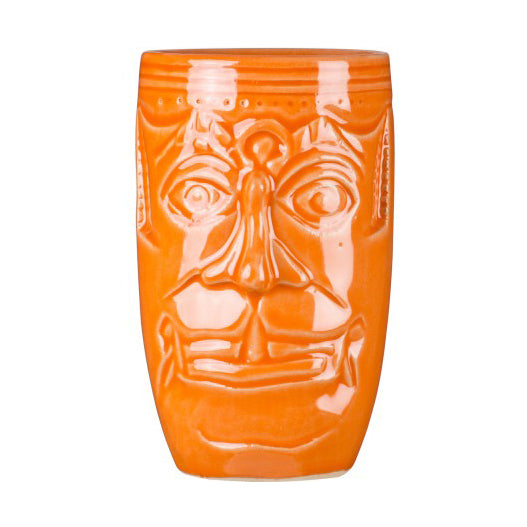 Tiki Mug /Becher 500ml - Nepali Stoneware Orange