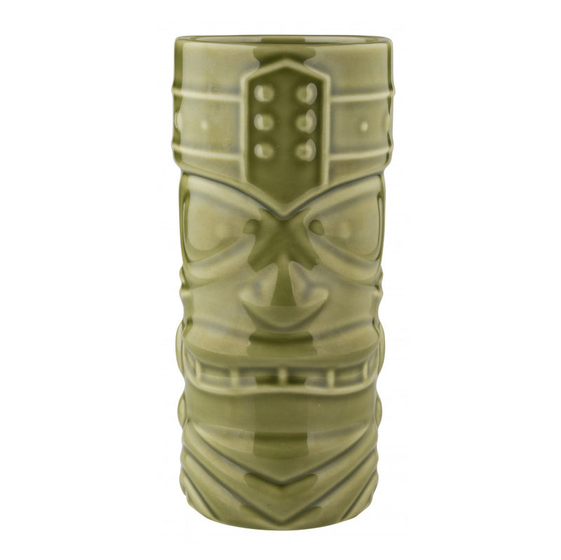 Tiki Mug Face  400ml - Porcelain Green Shiny
