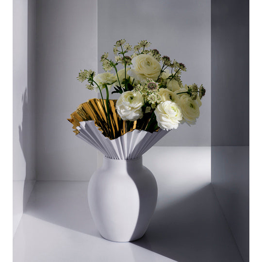 Decorative Flower Vase - Falda Gold Reflections by Rosenthal