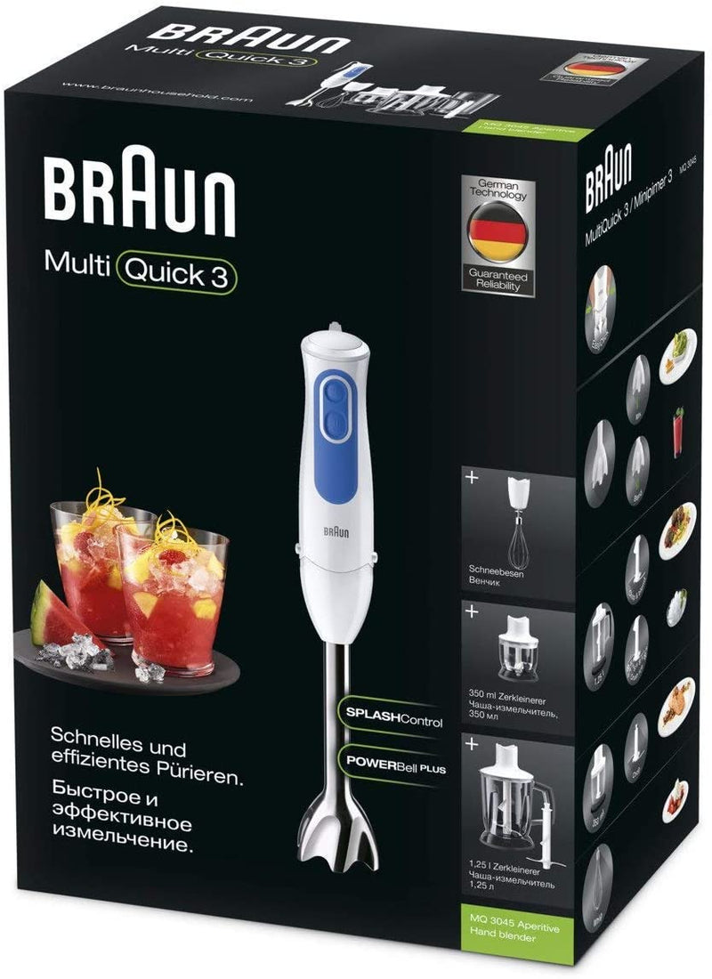MultiQuick 3, Hand Blender with Chopper & Whisk