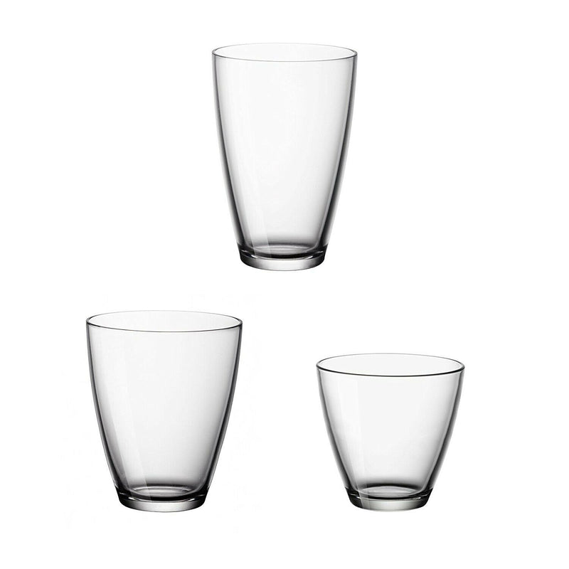 Set of 18 Glass Cups